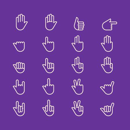 Hands icon vector set
