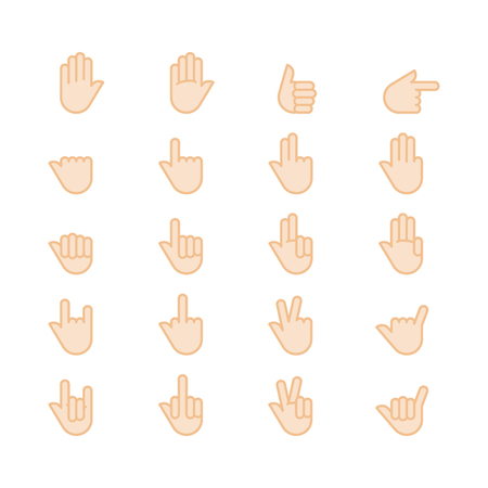 Hands icon vector set