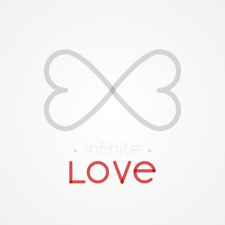 Infinite love. Flat design, vector illustration Ilustração