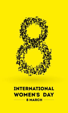 International Womens Day. 8 March. Flat design vector illustration
