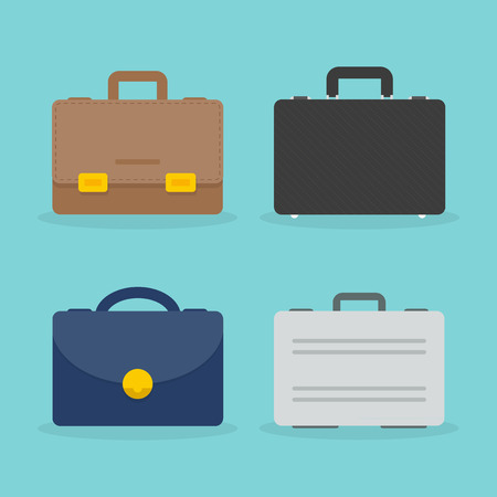 Set of briefcase illustration. Vettoriali