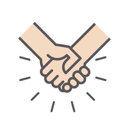 Handshake icon, success business concept illustration.
