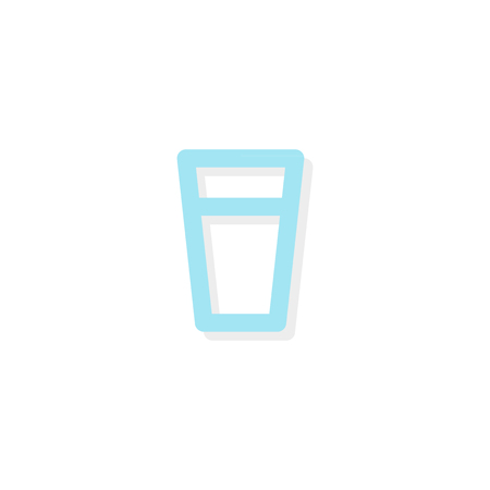 Glass of water icon vector illustration, flat design. 일러스트