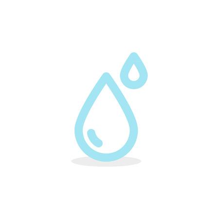 Water drop icon. Vector illustration, flat design