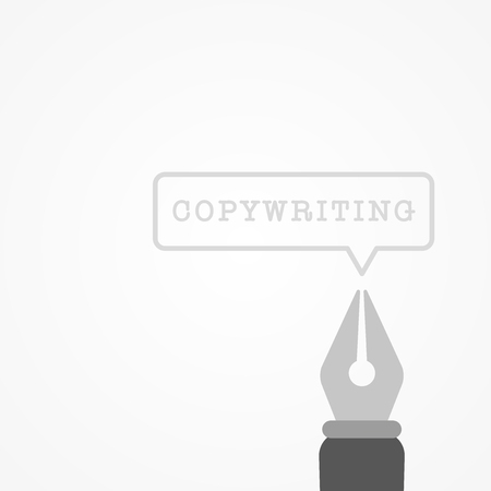 Copywriting concept. Vector illustration, flat design