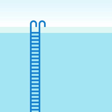 Swimming pool ladder. Vector illustration Vector Illustratie