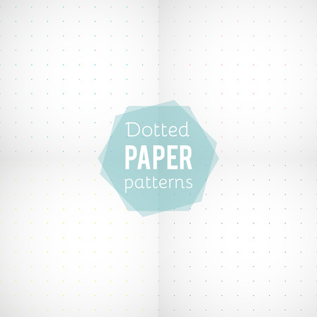 Set: paper patterns. Dotted papers in different colors. Vector illustration