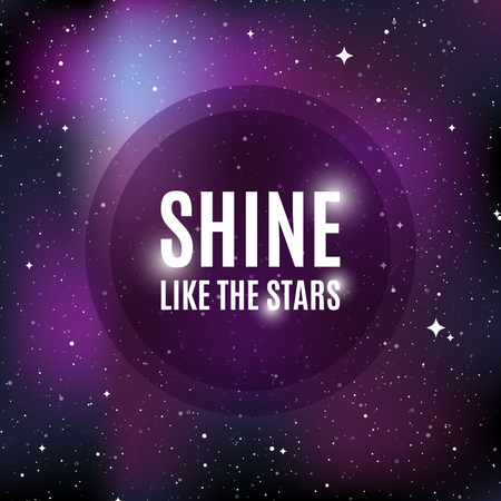 Star universe background. Quote: