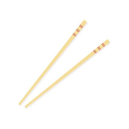 Chopsticks isolated. Vector illustration, flat design