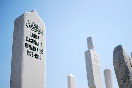 bosna: Muslim cementery in Sarajevo, Bosnia and Herzegovina Editorial