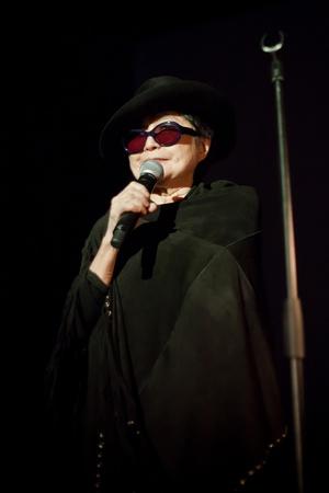 airwaves: Yoko Ono during the concert at Iceland Airwaves Festival  in Reykjavik, Iceland 2011 Editorial