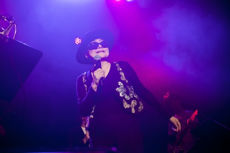 Yoko Ono during the concert at Iceland Airwaves Festival  in Reykjavik, Iceland 2011 Editorial