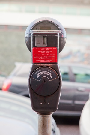 Retro parking meter Editorial