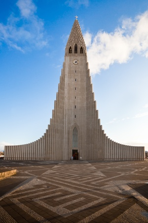 reykjavik: Hallgrimskirkja church in Reykjavik, Iceland