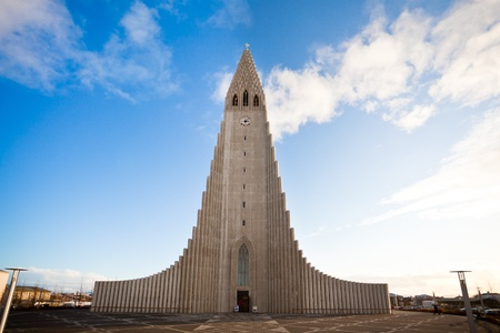 Hallgrimskirkja church in Reykjavik, Iceland photo