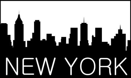 Skyline of New York City Stock Vector - 11161536