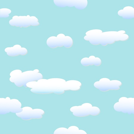 blue sky with clouds: Clouds - vector background Illustration
