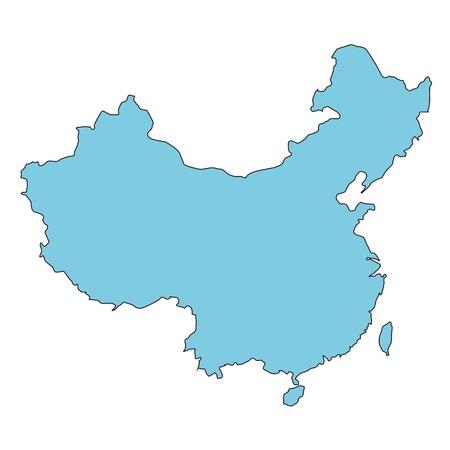 Carte de la Chine clair