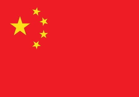 china flag: China flag Illustration