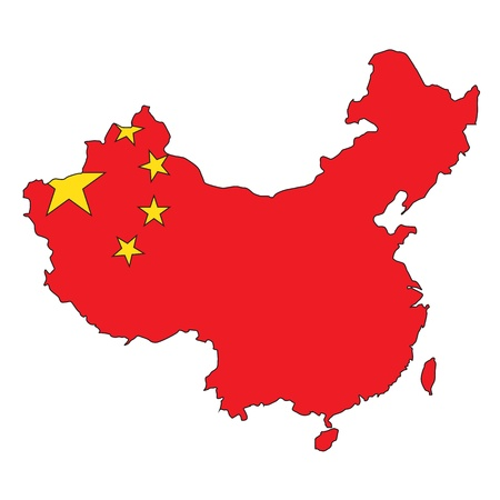 china map: China clear map Illustration