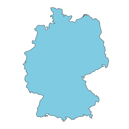 carte allemagne: Carte de l'Allemagne claires Illustration