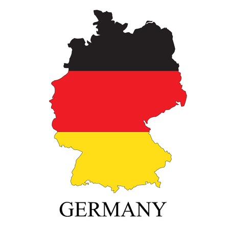 Germany map with flag and name Vector