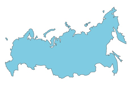 Russia clear map Vector
