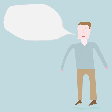 Man speaking out Vector