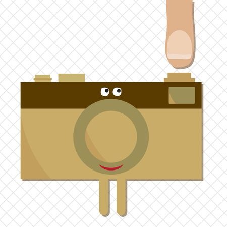 taking picture: Camera ready to shoot character