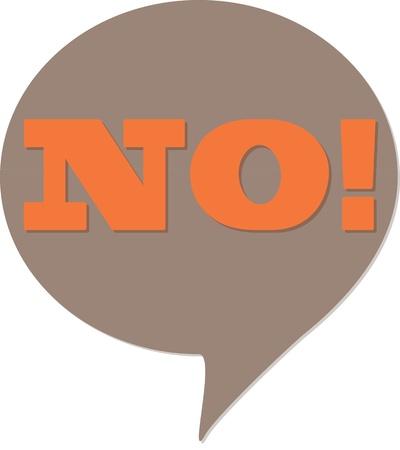 bande dessin�e bulle: Non! BD bulles de parler
