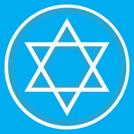 estrella de david: Estrella de David y el fondo azul