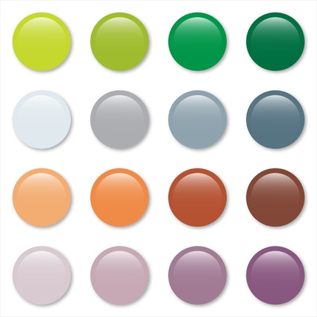 Gradient pastel web buttons set