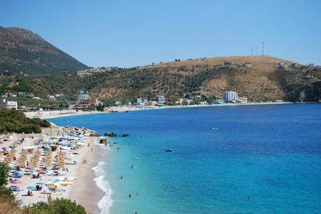 Albanian coast on a sunny summer