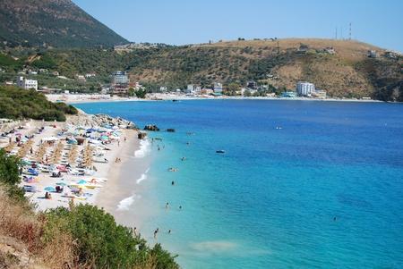 Albanian coast on a sunny summer photo