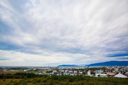 Landscape of Reykjavik, Iceland