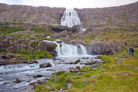 Dynjandi waterfall in the northern Iceland photo