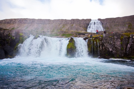 Dynjandi waterfall in the northern Iceland