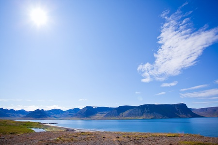 Landscape of summer in the fjords of Iceland Stock Photo - 11699878