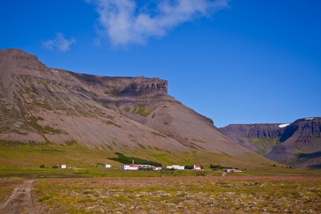 Landscape of summer in the mountains of Iceland Stock Photo