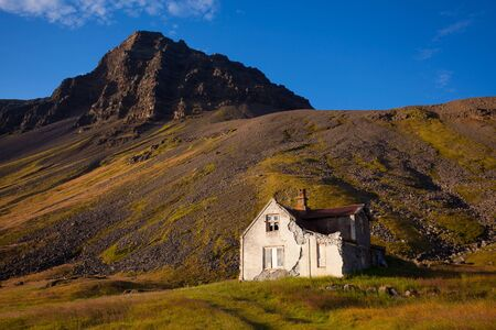 House in the countryside in Iceland photo