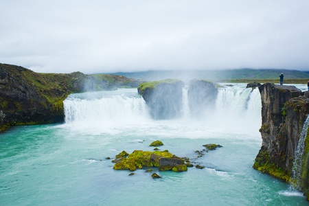 Godafoss waterfall in the northern Iceland Stock Photo