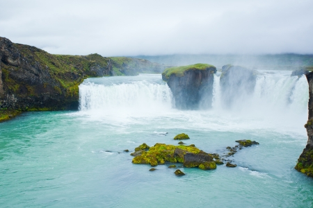 Godafoss waterfall in the northern Iceland Stock Photo - 11699825