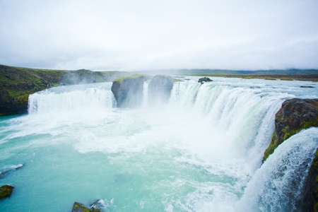 Godafoss waterfall in the northern Iceland photo