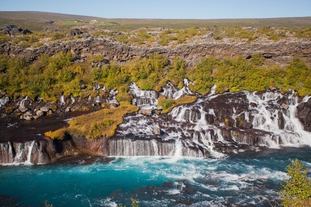 Waterfall in the northern Iceland photo