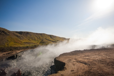 Thermal areas in the mountains of Iceland Stock Photo