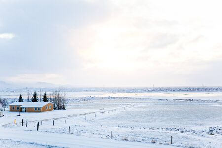 Winter landscape of Iceland, Scandinavia photo
