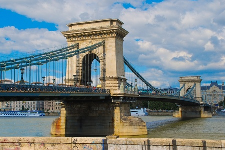 judaical: Chain Bridge in Budapest, Hungary