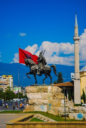 The center of Tirana in Albania, Balkans