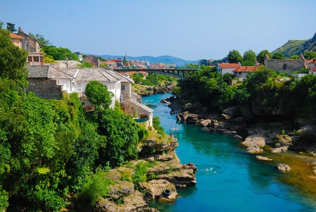 bosnia: Mostar, Bosnia, Europe, Landscape in the summer Stock Photo