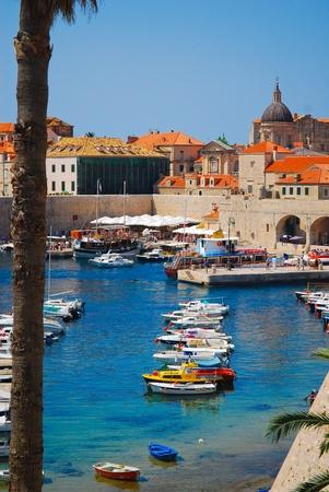 Dubrovnik, Croatia, Europe, Boats in port Editorial